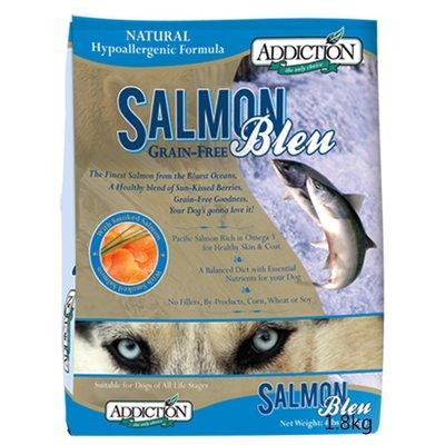 【】紐西蘭ADDICTION自然癮食ADD全犬種無穀藍鮭魚寵食狗飼料9kg