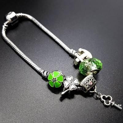手鍊 串珠手環-水晶飾品時尚清新綠色系列女配件73bo88[獨家進口][米蘭精品]