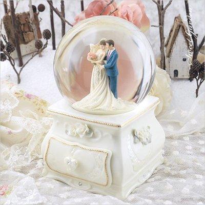 Sweet Garden, 結婚禮物 婚禮佈置 水球音樂盒 白瓷玫瑰 JARLL我們結婚吧 音樂水晶球
