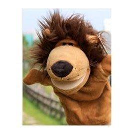 手偶玩具獅子 嘴巴能動的動物手偶 講故事必備手偶