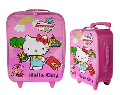 【卡漫迷】 85折出清 Hello Kitty 行李箱 高38cm粉 ㊣版 拉桿式 登機箱 隨身 旅行箱 批貨箱 拉鏈式