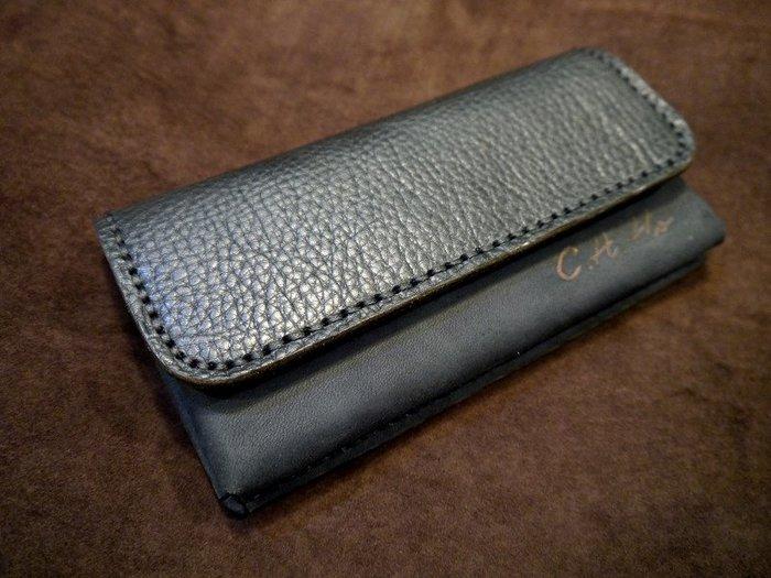 (KH手工皮件)全牛皮iphoneX iphone7 iphone8可用手機皮套橫式腰掛皮套.量身訂作配色自選免費燙字