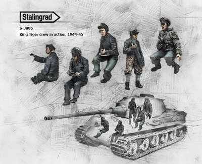 (ST)S-3086 1/35 King Tiger crew in action,1944-45 Resin Figures