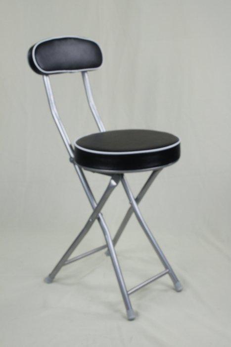兄弟牌丹堤有背折疊椅(黑色)~PU加厚型坐墊設計 1 張/箱~促銷價449元直購免運!Brother