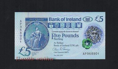 【Louis Coins】B072-NORTHERN IRELAND-2018北愛爾蘭塑膠鈔.5 pounds