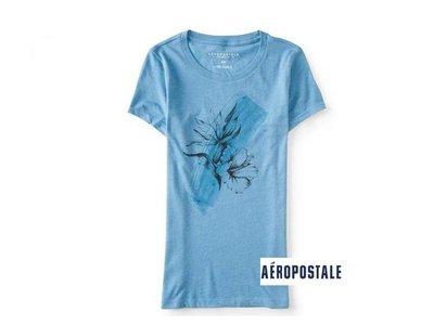 美國正品Aeropostale[Aero] 美式休閒短袖T / 藍 ~L (編號:3825 )