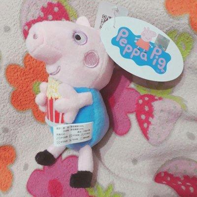 全新可愛 佩佩豬 喬治豬 抱爆米花