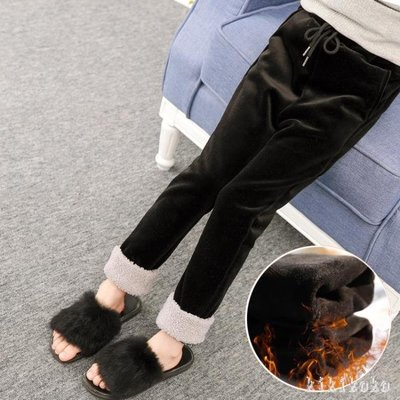中大尺碼女童長褲 女童加絨褲冬兒童韓版洋氣外穿加厚休閒褲加絨 DR3851