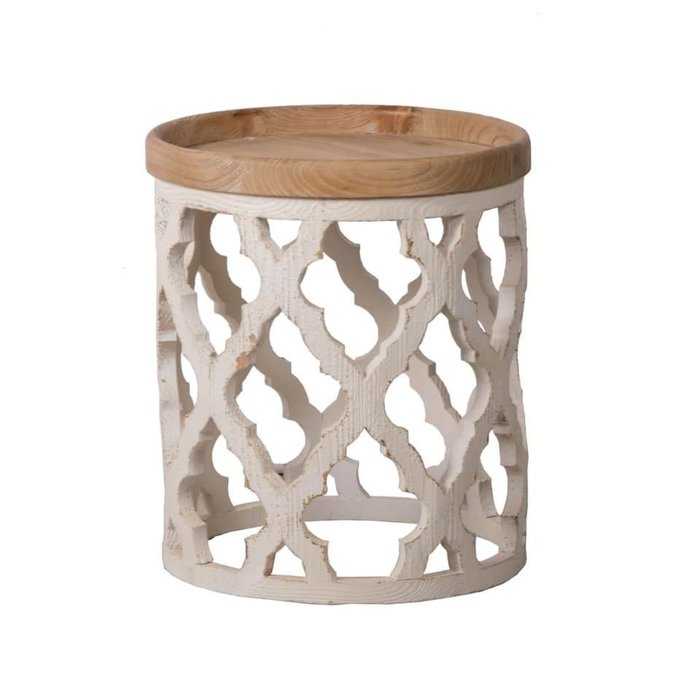 法式餐桌藝術 實木仿古茶几桌
