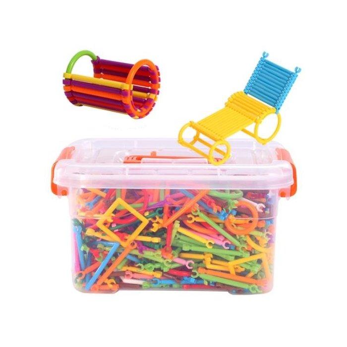 魔術棒拼插積木塑料3-4-6周歲兒童男孩益智雪花片拼裝玩具WY