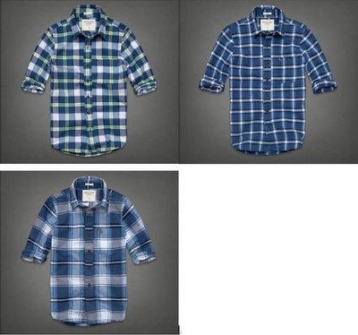 【A&F】BOUNDARY PEAK SHIRT  格紋襯衫,M號、XL號、XXL號 [假貨猖獗請看 關於我 ]