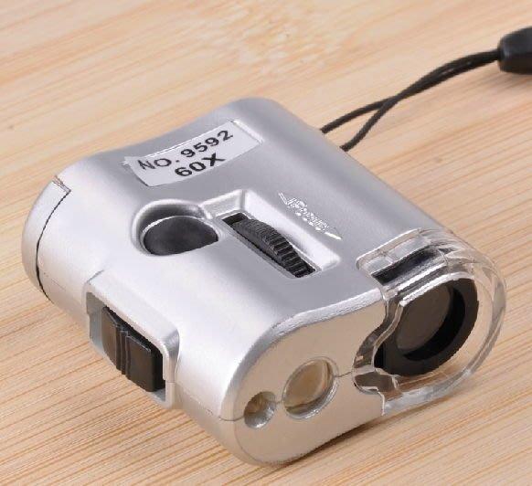 【奇滿來】顯微鏡  迷你微型顯微鏡 驗鈔放大鏡 60X 珠寶玉器檢測競  玉石檢測 電子ALAG