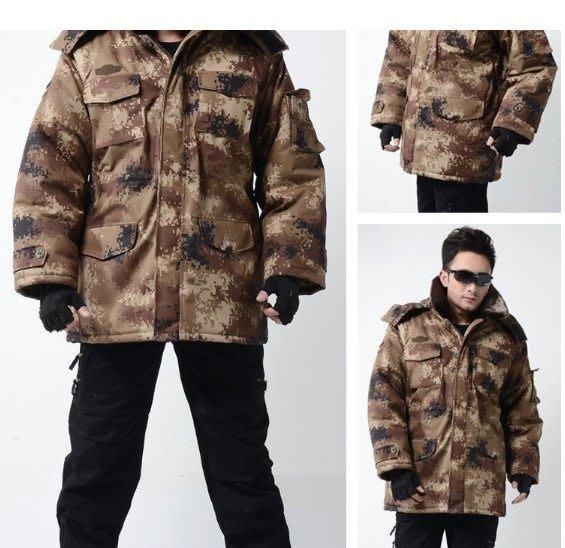 防寒大衣加厚大衣荒漠迷彩大衣荒漠大衣迷彩棉服軍大衣冬大衣棉服