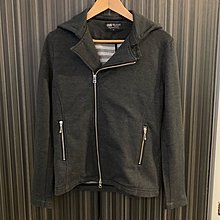 Beams 男裝深灰色外套連帽,開胸斜拉鍊,90% New,購自日本,Size : Medium