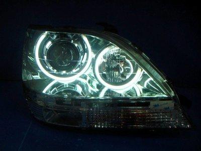 小亞車燈╠ 全新超亮LEXUS RX300 RX-300 CCFL光圈魚眼晶鑽大燈