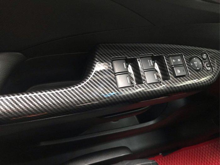 【安喬汽車精品】本田 HONDA CRV4 CRV4.5 專用  卡夢紋路 車門內手把 升降窗飾板 按鍵飾板
