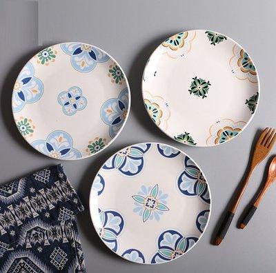 【愛麗絲生活家飾雜貨】歐式波希米亞風下午茶8吋陶瓷點心盤/蛋糕盤/水果盤/零食盤