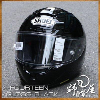 三重《野帽屋》日本 SHOEI X-14 全罩 安全帽 SNELL X-Spirit X14。BLACK 黑