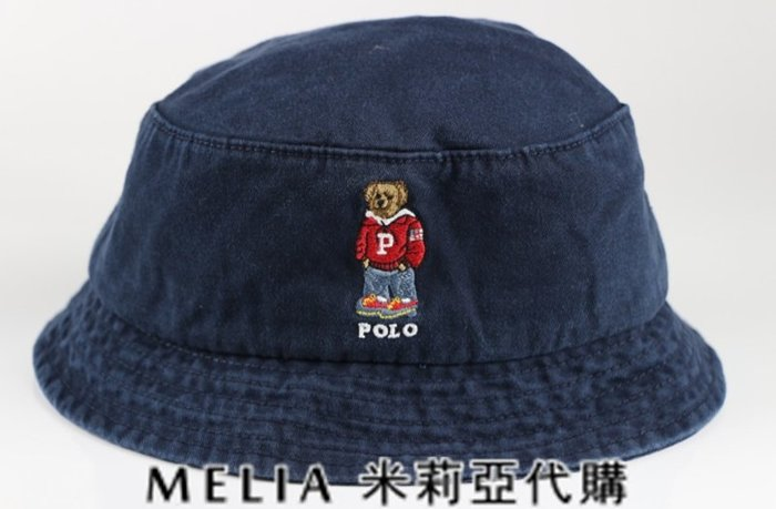 Melia 米莉亞代購 美國店面+網購 Ralph Lauren Polo 潮流帽 漁夫帽 嘻哈小熊刺繡 衝評價