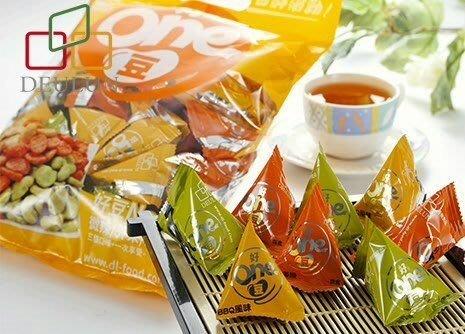 ~魔寶窩~得倫海苔最熱銷商品:好ONE豆-微辣、BBQ、芥末~綜合三角包,買六送一好吃又涮嘴