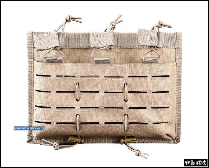 【野戰搖滾-生存遊戲】高品質多用途三聯彈匣袋【狼棕色】M4 AK 快拔彈匣包彈夾袋雷射切割