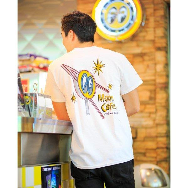 (I LOVE 樂多) MOONEYES MOON Cafe T-Shirts LOGO 霓虹燈看板打印短袖上衣