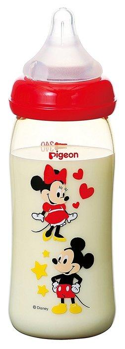 【現貨】日本 PIEGON 貝親 PPSU 母乳實感寬口米奇奶瓶 240ml 寬口徑 最新安全材質