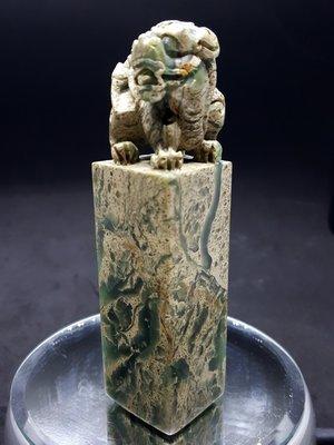 【好漾精品】❤❤壽山花坑凍石~色彩繽紛通透~~古獸方章225公克❤❤
