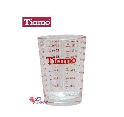 【ROSE 玫瑰咖啡館】Tiamo 義式 咖啡 玻璃 量杯 4oz...計量用 義式咖啡機適用  到貨