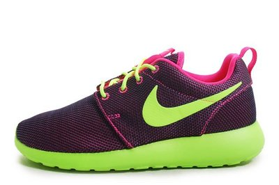 WMNS Nike Rosherun NSW Casual Hyper Pink/Volt 紫綠 US 7 7.5