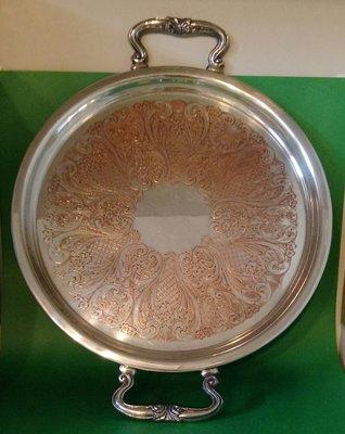 305 高級英國鍍銀盤 Antique Silver Plate Tea Pot plate tray