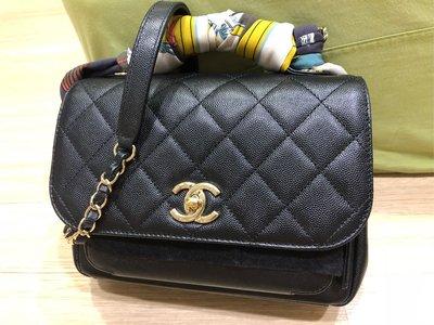 CHANEL 二手美品 荔枝牛皮郵差包 Chanel Business Affinity Flap Bag(已售出) 台中市
