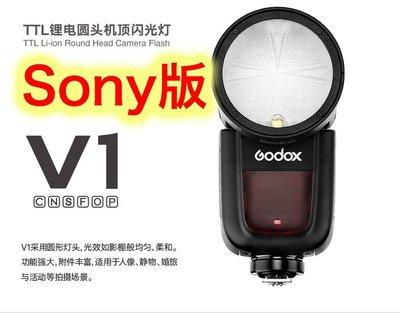 ~阿翔小舖~ 免運費 公司貨 神牛Godox V1 kit Sony TTL圓燈頭閃燈 V1-S 閃光燈 內建X1無線