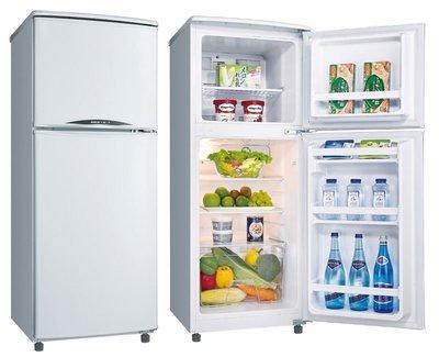 【高雄電舖】可退貨物稅500 三洋 128公升雙門小冰箱 SR-C128B1 強化玻璃棚架 / 台灣製 1級能效