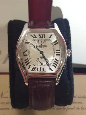鴻圖當舖 Cartier 卡地亞 Torture 龜型(限量150只)18K百金 大日期視窗 40小時動力儲存男庄腕錶