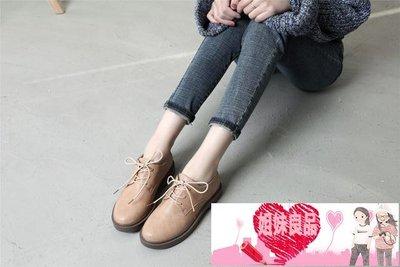 2018春季新款單鞋女平底學生韓版百搭復古英倫鞋子軟妹原宿小皮鞋【姐妹良品】