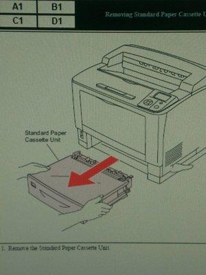Epson AcuLaser M8000N Removing Standard Paper Cassette Unit  [含稅價]