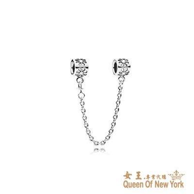 紐約女王代購 Pandora 潘多拉 小花安全鍊 925純銀 Charms 美國代購 可分期