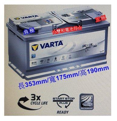 ~雙和電池~德國VARTA華達 指定G14 AGM電瓶 95AH ~賓士 BMW 奧迪 福斯,網友享折扣