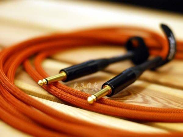 《民風樂府》英國名牌 ORANGE CA-JJ-STIN-OR-20 6米 直頭 專業樂器導線 Monster 可比較