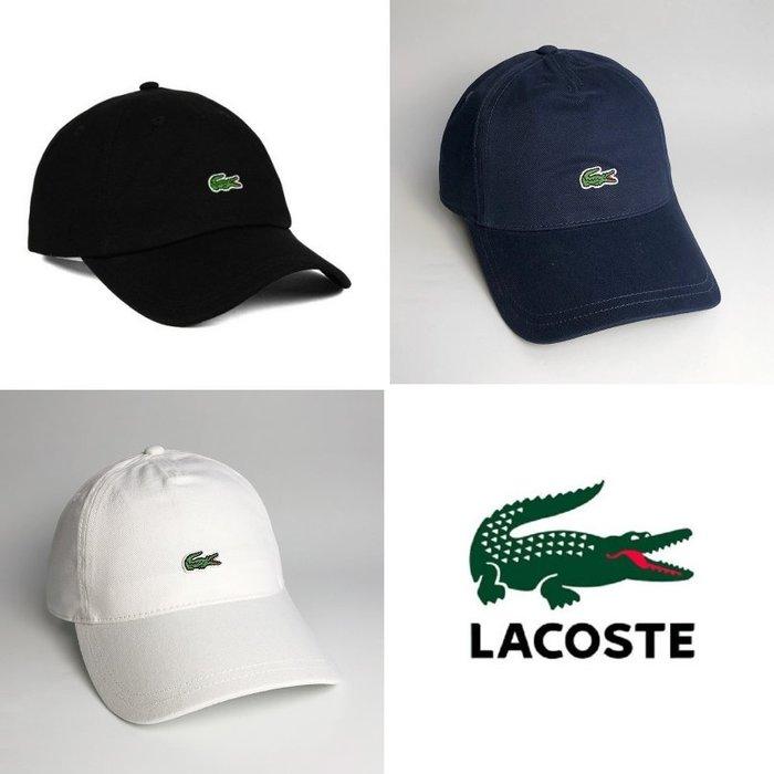 美國百分百【全新真品】Lacoste 鱷魚牌 帽子 老帽 棒球帽 網球帽 男女 配件 電繡 小LOGO 三色 C897
