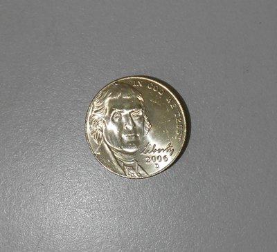 開始倒貨 美國 2006年 5分 FIVE CENTS 硬幣 UNC
