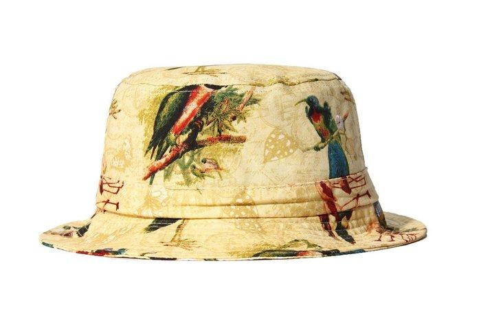 { POISON } LESS BIRDS BUCKET HAT 獨創歐陸風格鳥類紋面料 OUTDOOR筒型漁夫帽