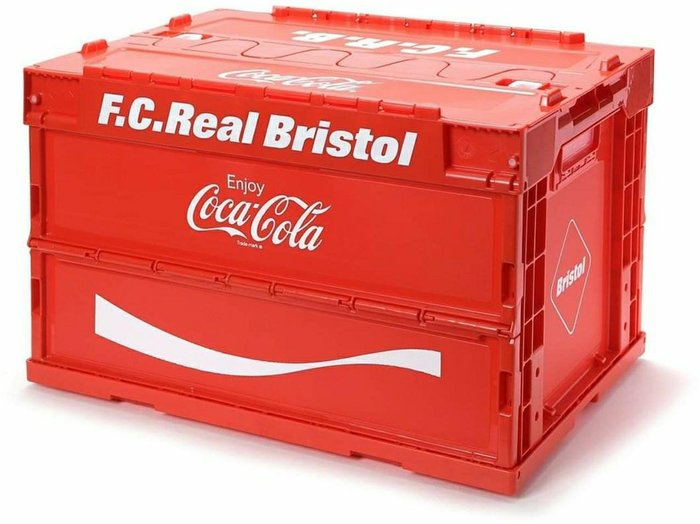 FCRB x Coca Cola 可口可樂 聯名 Foldable Container 摺疊收納箱 折疊 紅色 黑色 單一尺寸