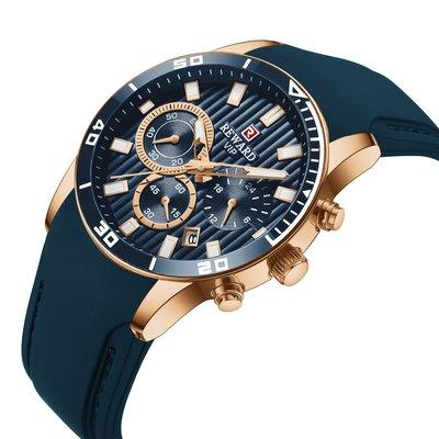 【潮裡潮氣】REWARD瑞沃達矽膠錶帶男士運動手錶日曆夜光防水多功能計時碼表RD83005M