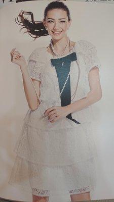 MS GRACY 全新目錄款 白色雷絲蛋糕洋裝 日本製38.40 ?保證全新 浪漫極了?全舘免運?誠可小議?換季出清