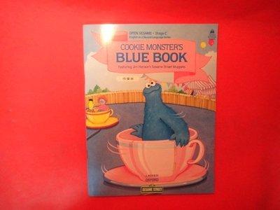 【愛悅二手書坊 02-51】 COOKIE MONSTER'S BLUE BOOK 作業本