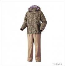 【欣の店】 SHIMANO・DS BASIC SUIT 釣魚套裝/雨衣 RA-027M 茶褐色 2XL