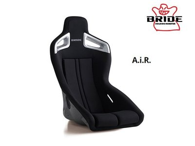 【Power Parts】BRIDE A.i.R. Fixed bucket seat-桶形賽車椅(黑色)