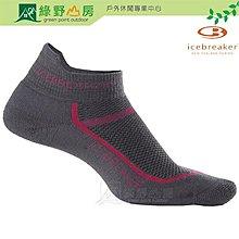 綠野山房》Icebreaker 紐西蘭 女 健行襪 運動襪 美麗諾羊毛襪  石油灰  IB101480-001
